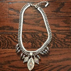 Lydell NYC silver statement stone necklace